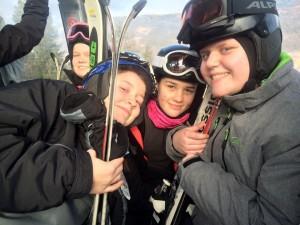 Piger i liften i Østrig